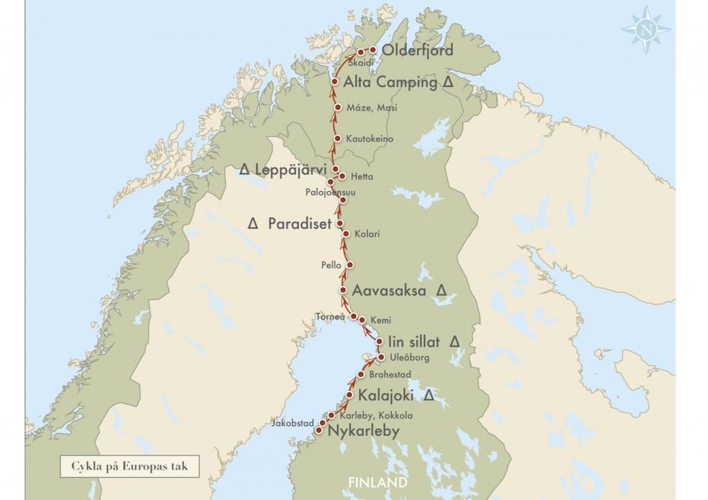 En cykelresa från Nykarleby till Olderfjord.