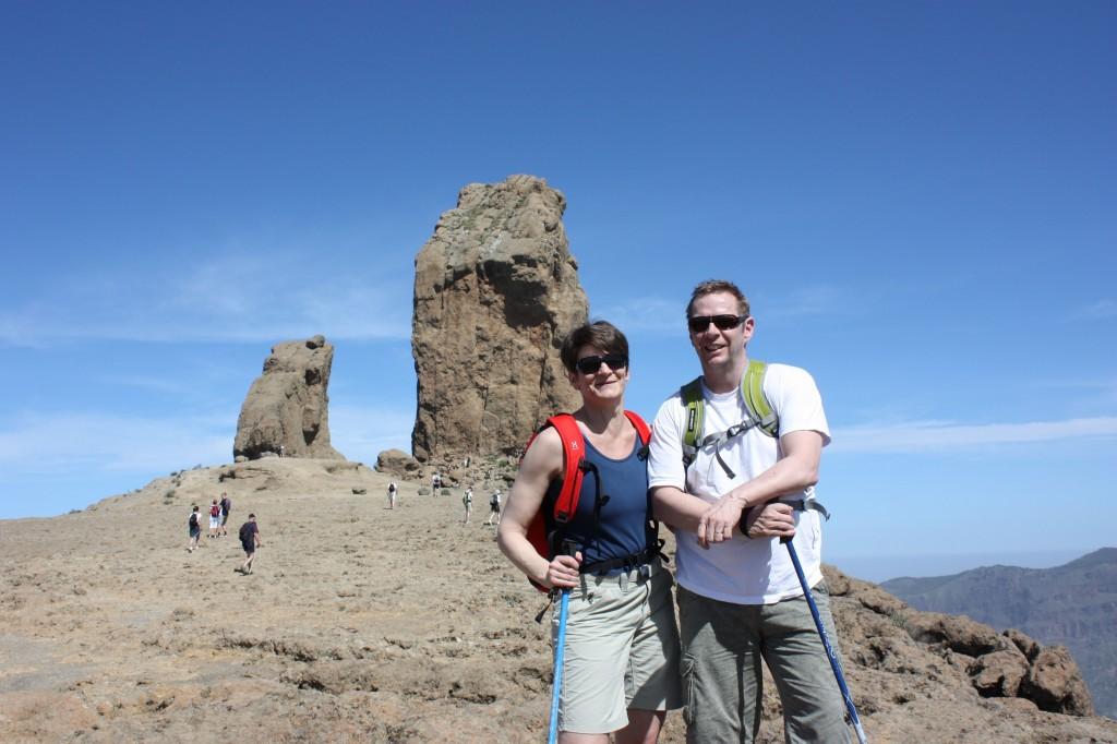 80 meter hög klippa på 1813 m.ö.h.