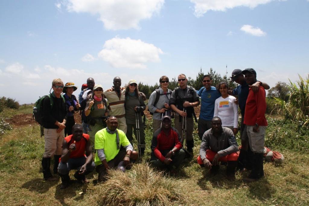 Team Simba: en blandning från USA, Canada, India, Finland och några av de 42 bärarna.